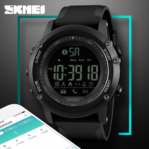 Skmei Smart Diver Watches Men's Digital Bluetooth Calorie App Remind Camera Easy