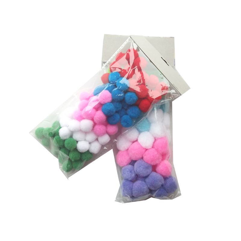 2017 craft assorted color acrylic bulk Pom Poms