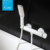 Wholesale Prices Ceramic Cartridge Single Handle Bathroom Wall Mounted White Bath Shower Faucet Tap Mixer For Shower or Bathtub