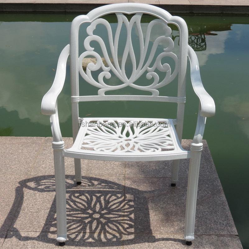 patio esterno bianco tavolo da pranzo rotondo e sedie mobili da ... - Metallo Patio Tavolo E Sedie Rotondo