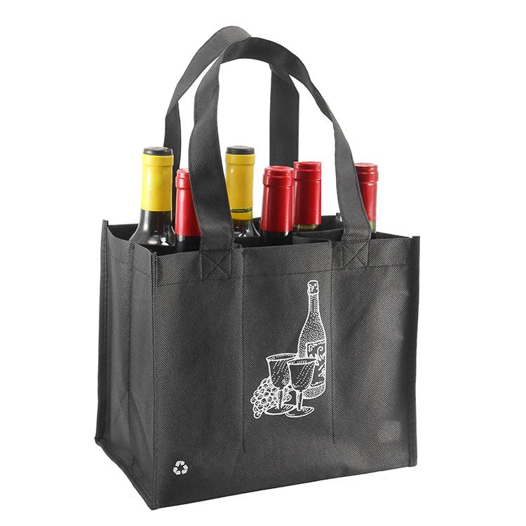 3a97a2fbb Eco التصميم الجديد 6 حزمة النسيج النبيذ هدية حقائب-أكياس التسوق ...