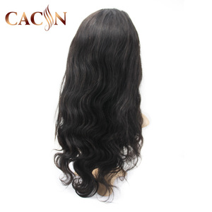 China wholesale Brazilian wig virgin remy 100% 10a ,semi human wig shelf body wave for black women