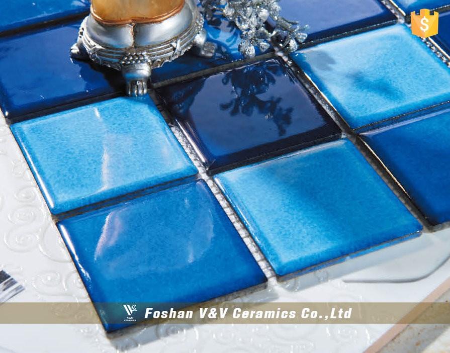 Carreaux De Céramique Mosaïque Pour Piscine Bleu De Mosaïque De Gros Pas  Cher Piscine Carrelage