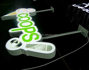 nieuwe mooie knipperende blootgesteld verlichting voor winkel naam letters borden led lichtbak teken
