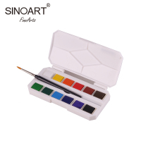 High Quality 12/18/24/30/36/48Colors Solid Watercolor Paints Half Pans Pigment Set For Canvas Paper