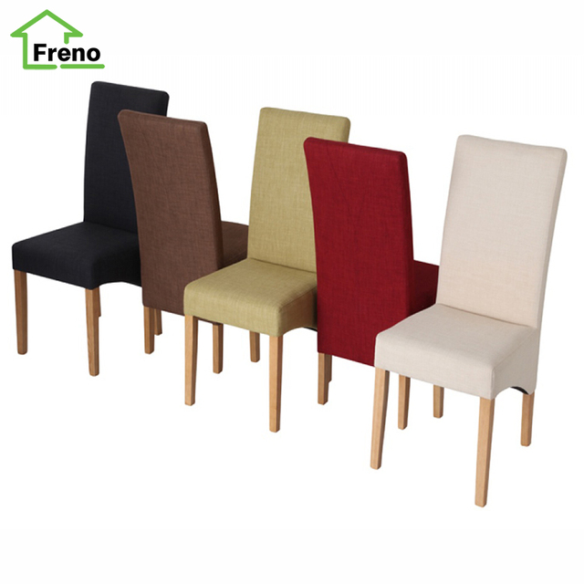 FN-5752 beauty fabric wooden frame dining room chairs