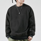 2019 Oem Solid Color High Quality Tech Fleece Raglan Sleeve Mens Crewneck Blank Oversized Sweatshirts