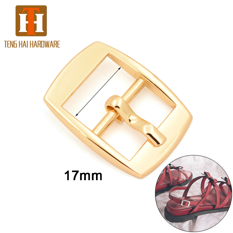 Custom shoe hardware small belt metal pin <strong>buckle</strong> for strap