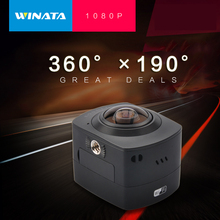 2016 360 1080P 30fps Panoramic Action Camera WiFi H.264 360 Degrees Panorama Camera 360×190 Large Panoramic Action Video Camera