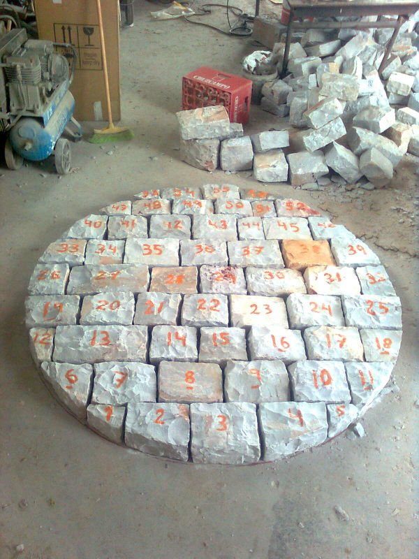 Silex bricks for ball mill lining