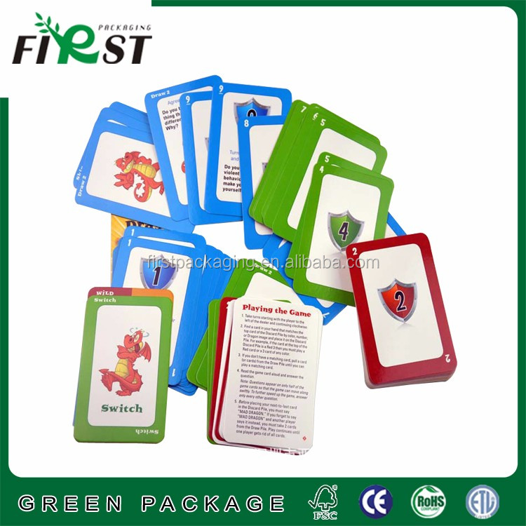 Durable recycled playing paper game memory card for kids,logo printed for promotion