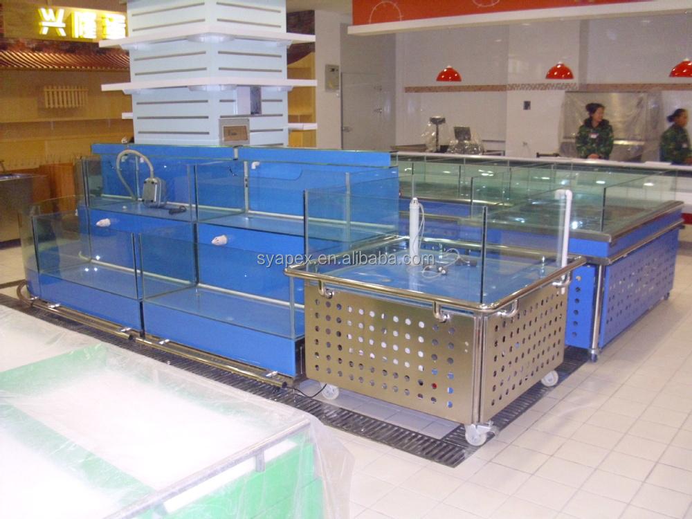 Apex factory custom make export package commercial for Custom fish tanks for sale