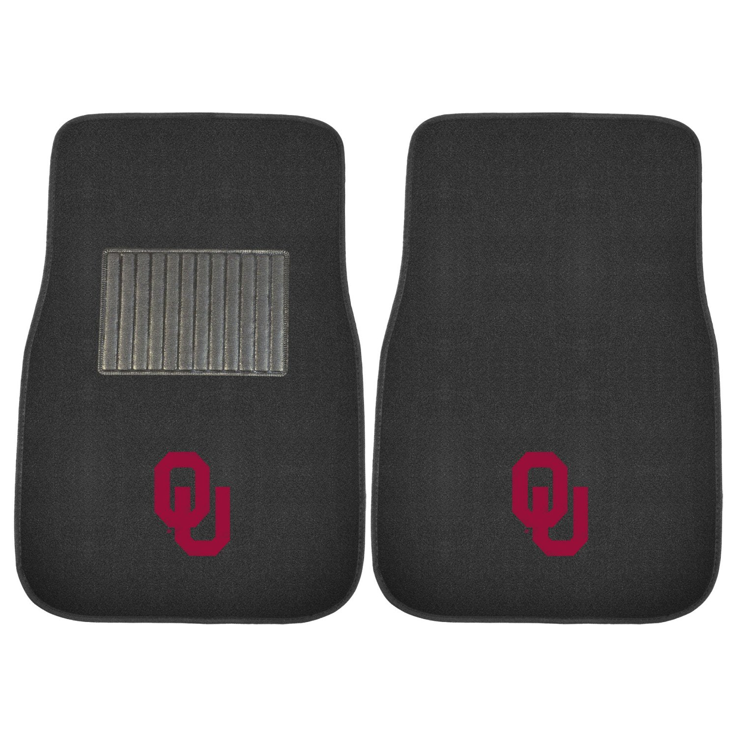 FANMATS 17598 Oklahoma 2-Piece Embroidered Car Mat