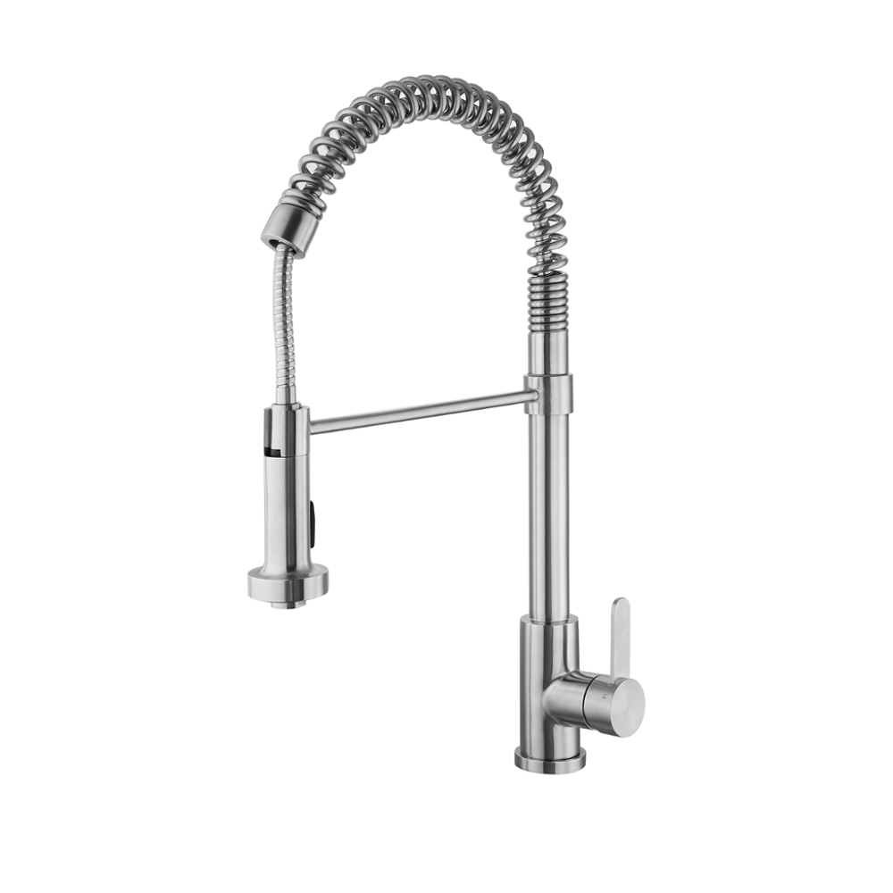 Kitchen Supplies Flexible Pull Down 304 Stainless Steel Faucet