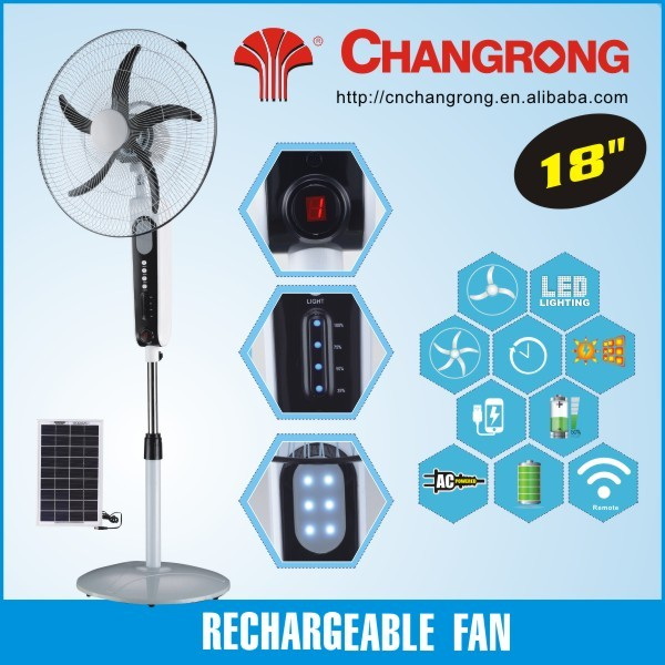 rechargeable fan emergency ac dc solar fan
