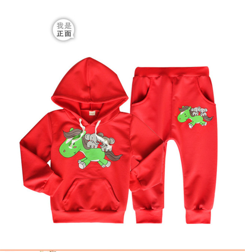 100% Cotton Spring Autumn Boy clothing set Boys clothes set Baby suit kids Tracksuit child sportswear sports suit outfits Unisex