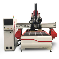 cnc atc router 1325 mdf board cutting cnc marking machinery with row type ATC for Wooden Doors
