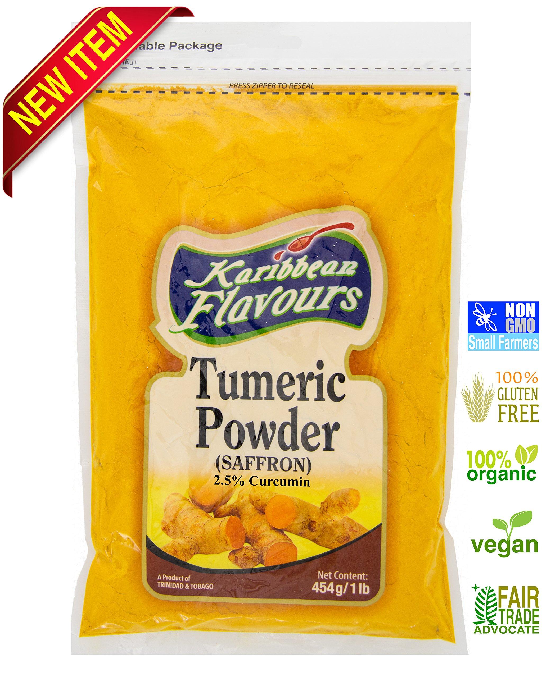 NEW!! Premium Ground Turmeric Root Powder (2.5% curcumin) 1 lb. (454 g) - organic, vegan, non-gmo Tumeric