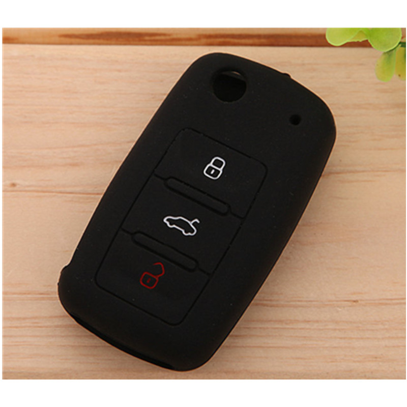 2016 Excellent Quality Bright Color 3 Buttons Silicone Car Key Case / Shell / Cover
