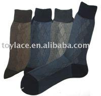 Black breathable mens custom dress socks