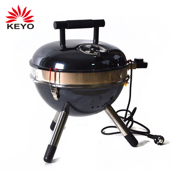 230V Indoor 14 Inch Kettle Infrared Electric Grills Indoor Table Top  Portable Small Mini Electric Barbecue
