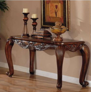 french style luxury hand carved wooden antique console table