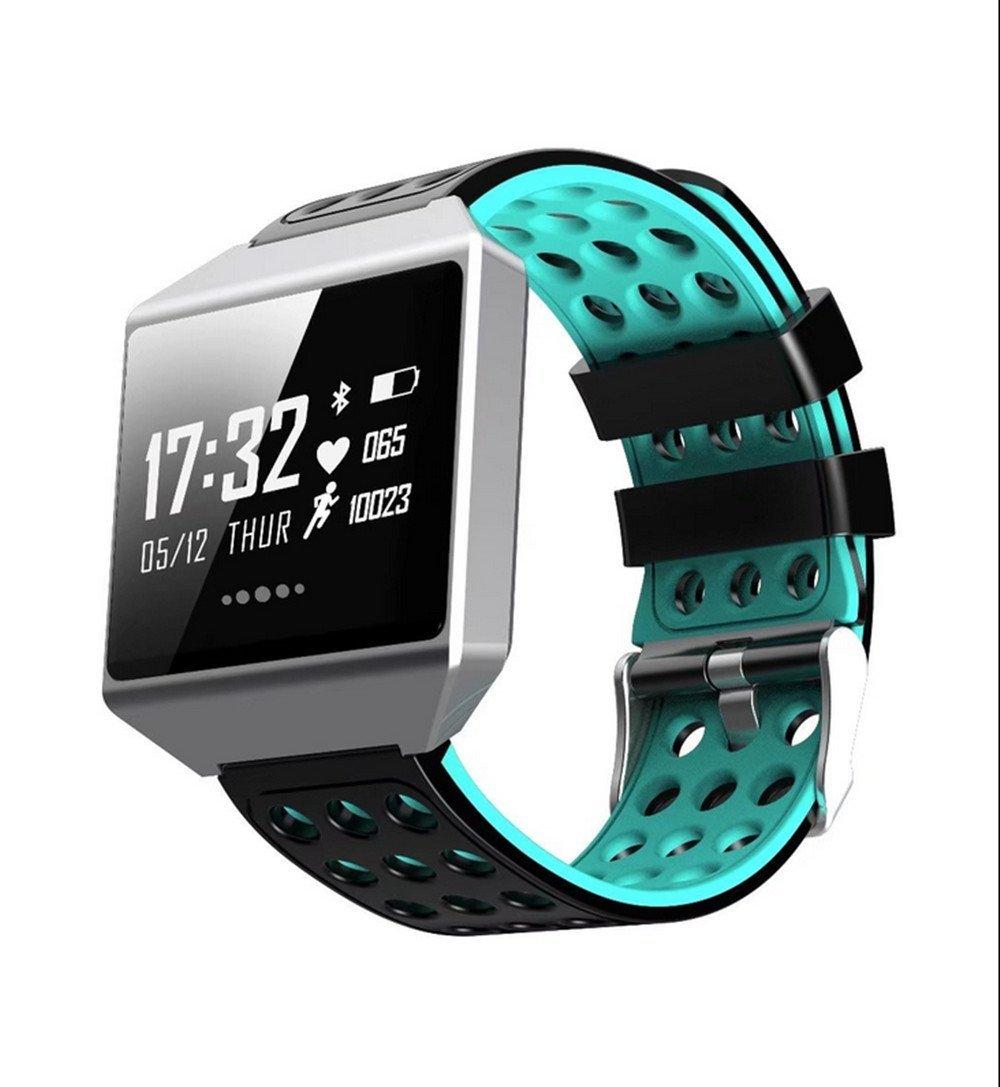 CK12 Smart Band Graphene ECG Heart Rate Monitor Blood Pressure Monitoring Smart Bracelet Sports Bluetooth Waterproof Watch(blue)