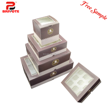 Cheap food grade paper cake box cupcake box for wholesale
