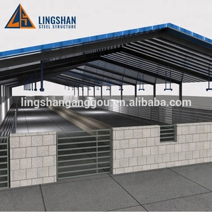 Prefab Steel Livestock Shed Design Horse Stable Cow Barn Chicken Farm Building