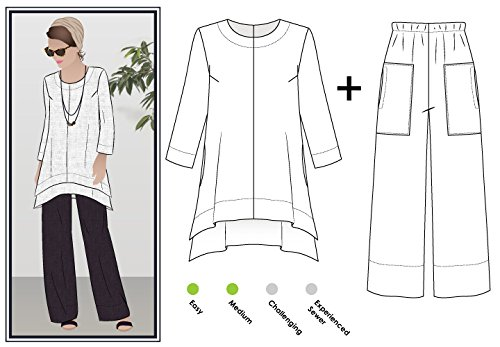 Sizes 18-30 Click for Other Sizes Available Style Arc Sewing Pattern Anna Pant