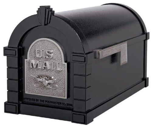 Gaines Original Series Keystone Mailbox In Black/Satin Nickel