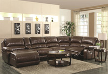 Modern Leather Living Room Corner Sofa Home Furniture