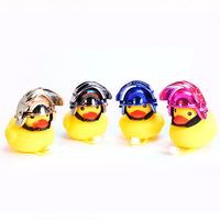 Cute Cartoon Yellow Little Duck Shape Bicycle Lights Bell,Squeeze Horns for Toddler Children Cycling Rubber Duck
