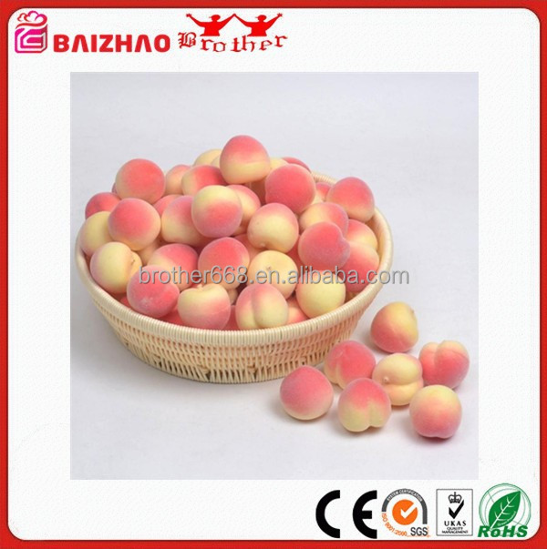 Custom Made Artificail peach Fruits For kids educational toys