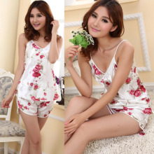 Freeshipping Fashion Womens Sexy Pajamas Set Blouse Shirt + Shorts Underwear Sleepwear 2 Pcs dropshipping