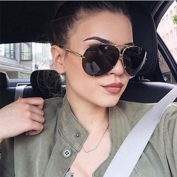 8cc24454ae22 Hot Sale New Arrival 2017 Women Brand Designer Men Pilot Drive Sunglasses  Oversize Unique Rays Clear
