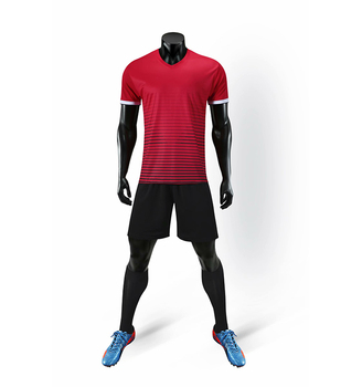 Original Popular Top Quality Made In China Red Soccer Shirt Short 2019