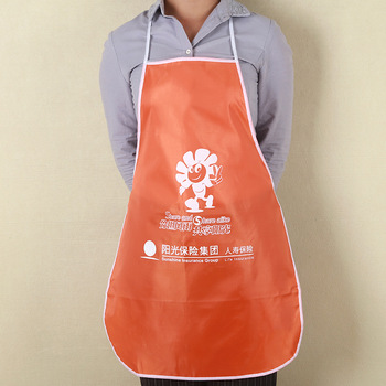 Promotion Cheap Advertising Polyester String Adjustable Neck Strap Washable Bib Apron