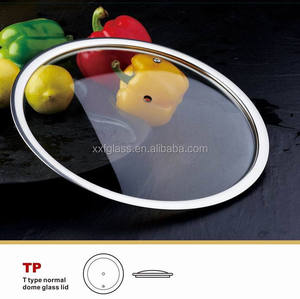 small size stainless steel 304 ring glass lid for Pizza pan