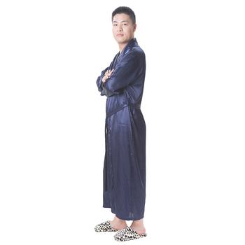 Sexy Hot Selling Silk Long Robe Satin Nightwear Men - Buy Satin ... b0482f594