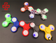 2018 Athmedic new EDC Focus ADHD Autism Anti Stress Light Hand Spinner Led Light Fidget spinner Hand Spinner Toys