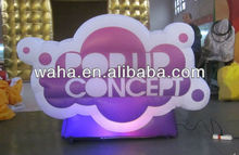 2012 new brand color changeable led inflatable logo for advertising