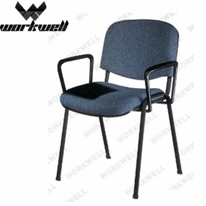 WorkWell hot sale unique fabric visitor chair with tablet kw-v5006