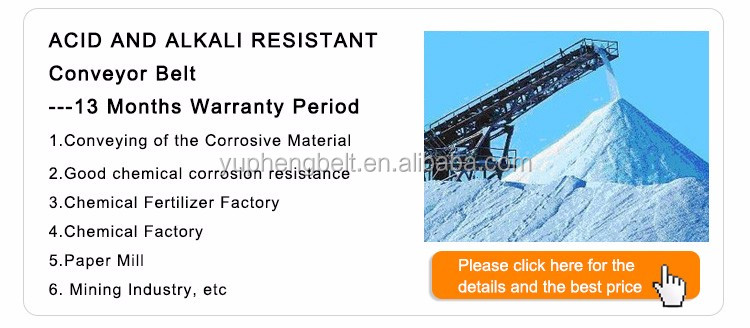 Chemical Resistant Rubber Conveyor Belt For Acid and Alkali Materials