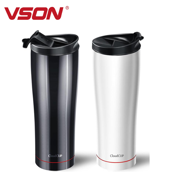 2016 VSON cheapest gift stainless steel thermo mug promotional travel mug smart cup bluetooth working with APP for all markets