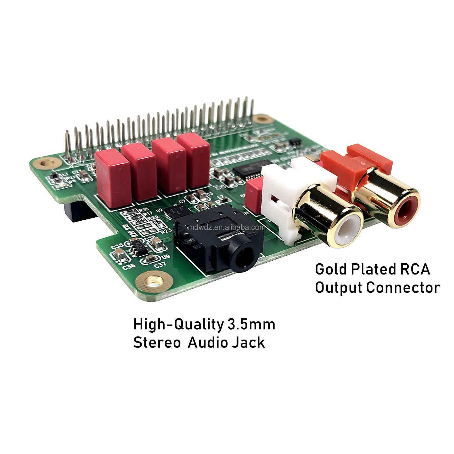 Raspberry Pi HiFi DAC HAT PCM5122 HiFi DAC Audio Card Expansion Board for Raspberry Pi 3 B+ Pi Zero etc. (DAC HAT)