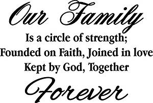 Buy Oplaza Philosophy Quote Our Family A Circle Of Strength And