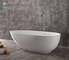 Hot sale egg shape resin stone freestanding solid surface bathtub