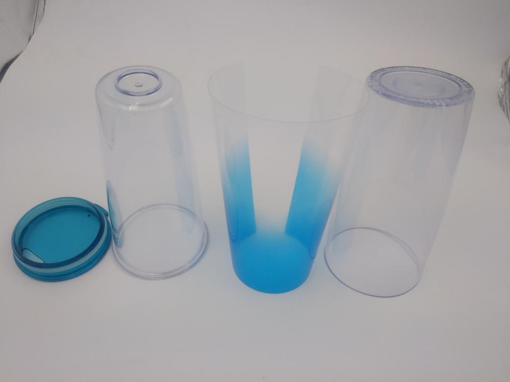 580ML Double layer plastic water cup