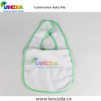blank Personalize sublimation baby bib